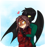 COM: He keeps me warm by MimiMarieT
