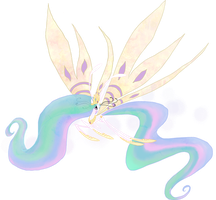 My Little Pony Celestia Breezie by kaizerin