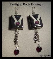 Twilight Book earrings by Hyo-pon