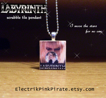 Labyrinth scrabble pendant by ElectrikPinkPirate