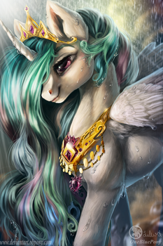 Queen Celestia- I'll lighten up your sky by LuleMT