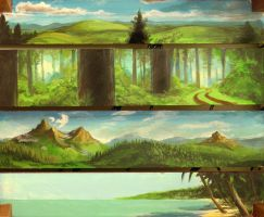 Four Landscapes by mattandrews
