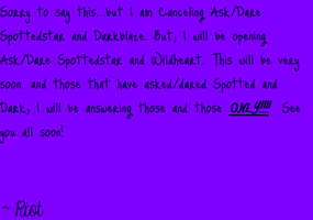 Cancelled by Spottedstarlightclan