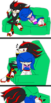 Shadonic/Sonadow Gender bend Comic by MakiotasticOrange