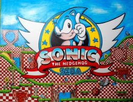 Tribute to Sonic the Hegdehog by DannyNicholas