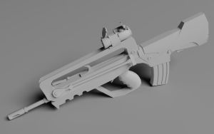 FN FAMAS G2 Vray 3d Render by HaMsTeYr