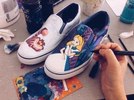 Alice in Wonderland Shoes by Bobsmade