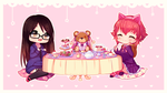 Commission - Sweet Tea Party by Hyanna-Natsu