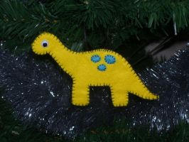 Dinosaur Christmas Ornament by No-Dogs-Allowed