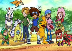 Digimon Anniversary by friendlyMiststueck