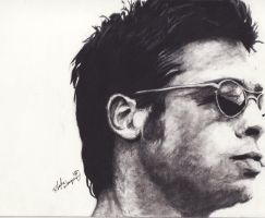 Brad Pitt by DarkCalamity