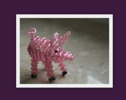 pig made of beads by MrsEfi
