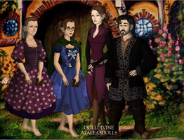 my family in middle earth by art-is-my-bream