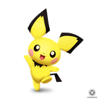 Pichu Smashified (Transparent) by KryptonLion