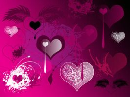 Valentines Brushes I by melemel
