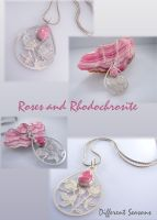 Roses and Rhodochrosite Series by jessa1155