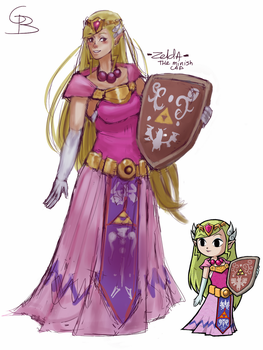Princess Zelda (The Minish Cap) by TheAverage