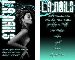 LA Nails Business Card by 5000WATTS