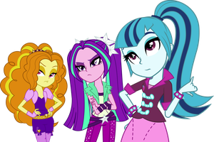 Dazzlings Vector (Without Necklaces) by DigitBrony