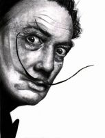 Salvador Dali drawing by Art-from-the-heart-x