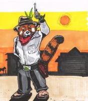 Red Panda Cowboy by MichelleSix