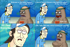 Regular Show: Welcome to the Salty Spitoon. by Dinodavid8rb