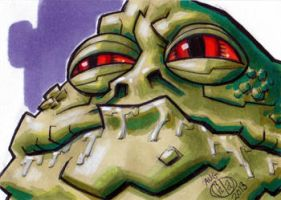 Jabba the Hutt Sketch Card by Chad73