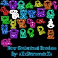 New Skelanimal Brushes by xXxDiamondxXx