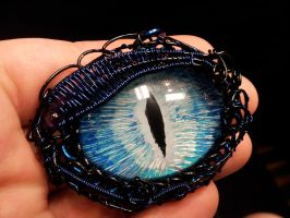 Ice Eye wrapped in Blue by BacktoEarthCreations