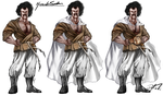 DBZ Concept Art, this time, Hercule! by BrokenZen