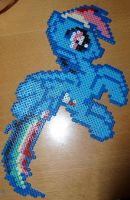 Rainbow Dash - Perler or Hama by Chrisbeeblack