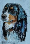 Dog Drawing, Chalk on Paper. by 80sdisco