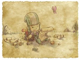 Thomas the Leap Year sketching Elf 9 by D-Gee