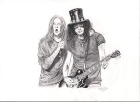 Ozzy and Slash by Witneil