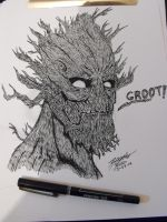 GROOT GUARDIANS OF THE GALAXY by KyubiNabruto
