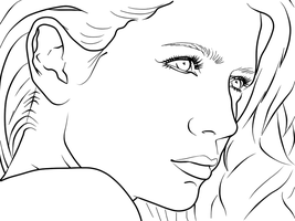 Mischa Barton Lineart by Angie-s
