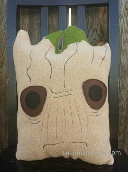 Groot Guardians of the Galaxy pillow by Telahmarie