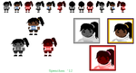 When the Song Stops Amber Sprite Sheet by Spenchan