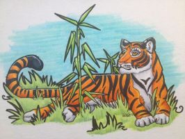 tiger by iwuvrubberduckies