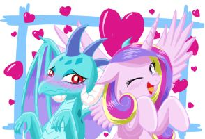 Cadence and Ember by PhoenixPeregrine