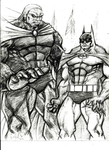 Darkseid vs Batman on Apokolips by MisterHydesSon