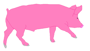 Pig Lineart-free use by poppygirl36