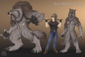 Aunt Broken Fang by LycanthropeHeart