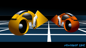 Tron Test Vector Art (color) by Atariboy2600