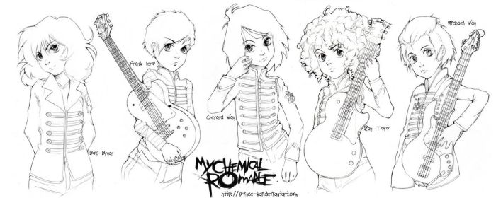 mY cHeMical roMancE. lineart by prince-kai