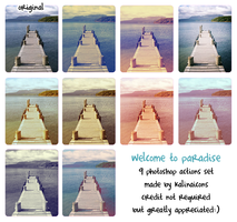 Welcome to Paradise actions by kalinaicons