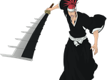 Renji Abarai Vector PNG Extraction by TattyDesigns