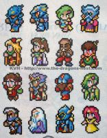 Bead Sprite FF4 full cast by pinkdramon
