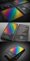 Rainbow Typography business card by Lemongraphic