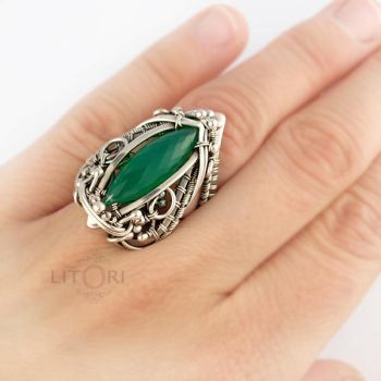 TEIJA- silver ring + chalcedone by litori